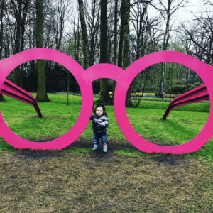 rose colored glasses art sculpture keukenhof noah